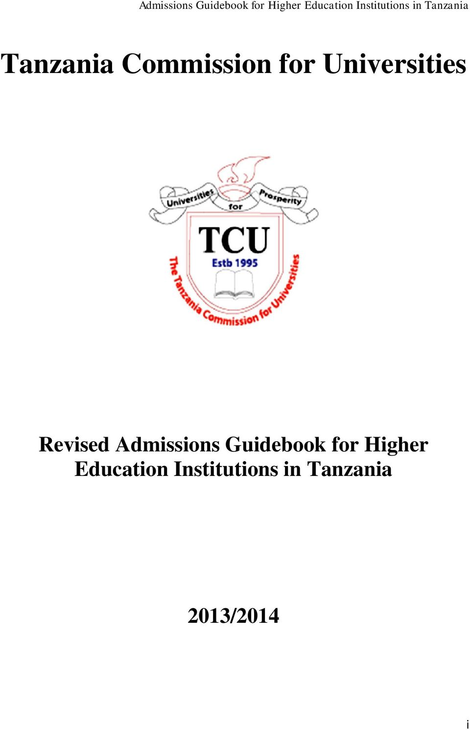 Tcu Guide Book 2017/18 Pdf