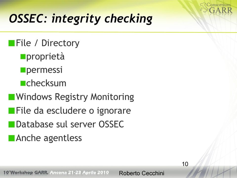 Registry Monitoring File da escludere o