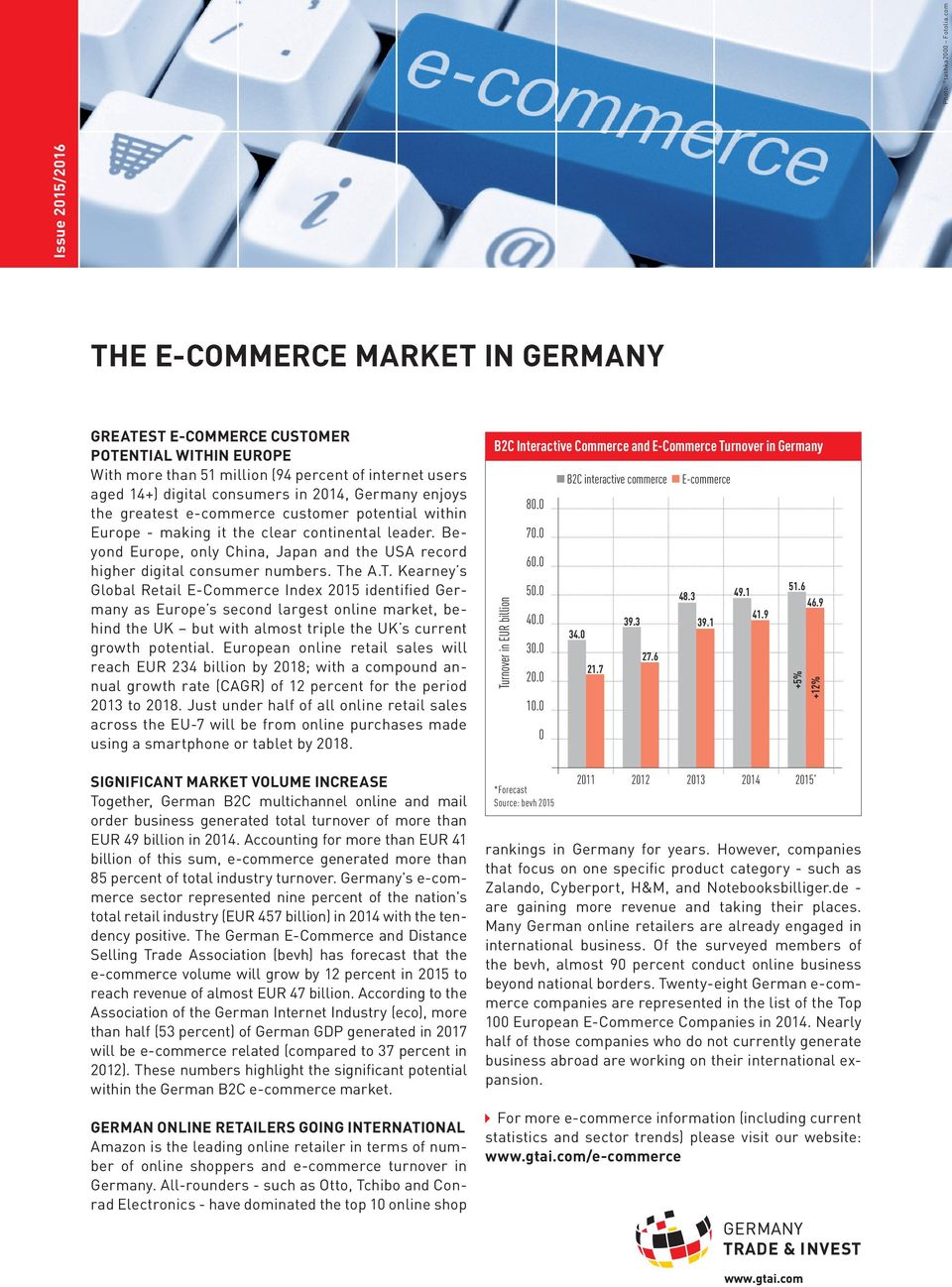 the greatest e-commerce customer potential within Europe - making it the clear continental leader. Beyond Europe, only China, Japan and the USA record higher digital consumer numbers. Th