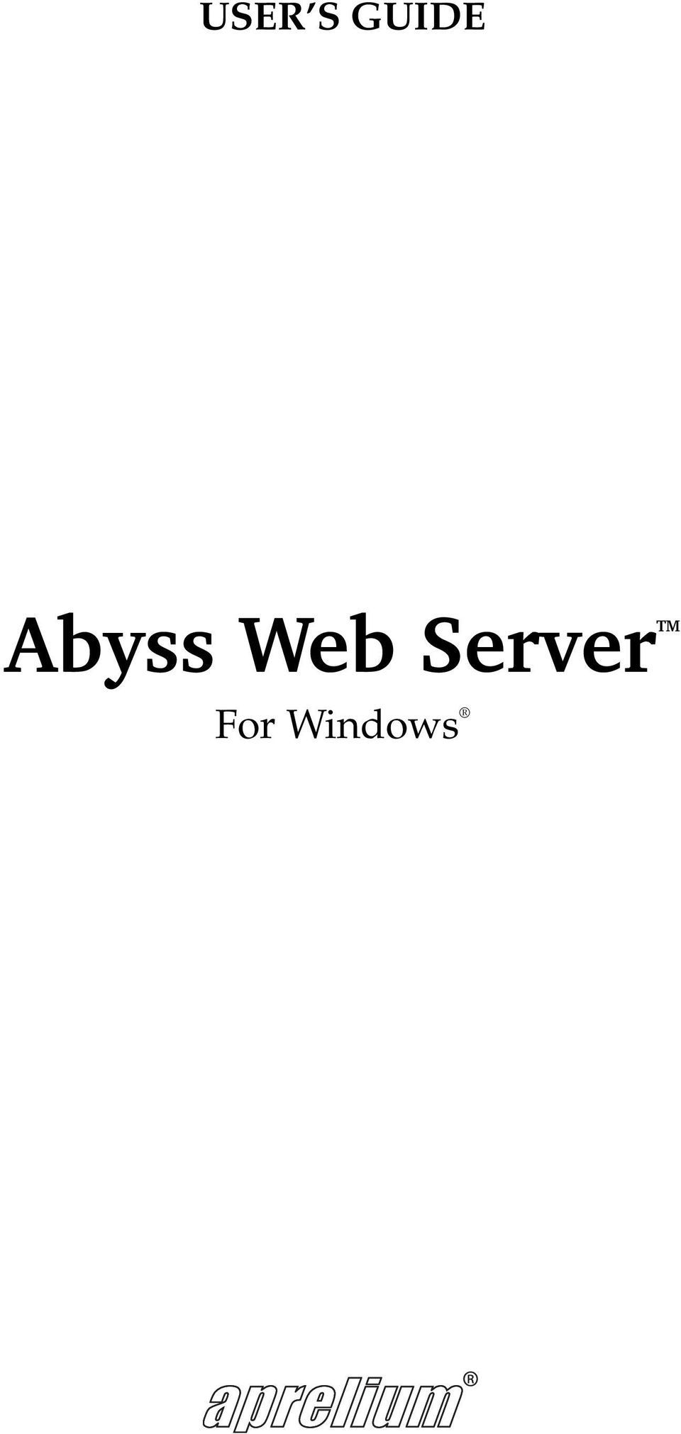 USER S GUIDE Abyss Web ServerTM - PDF