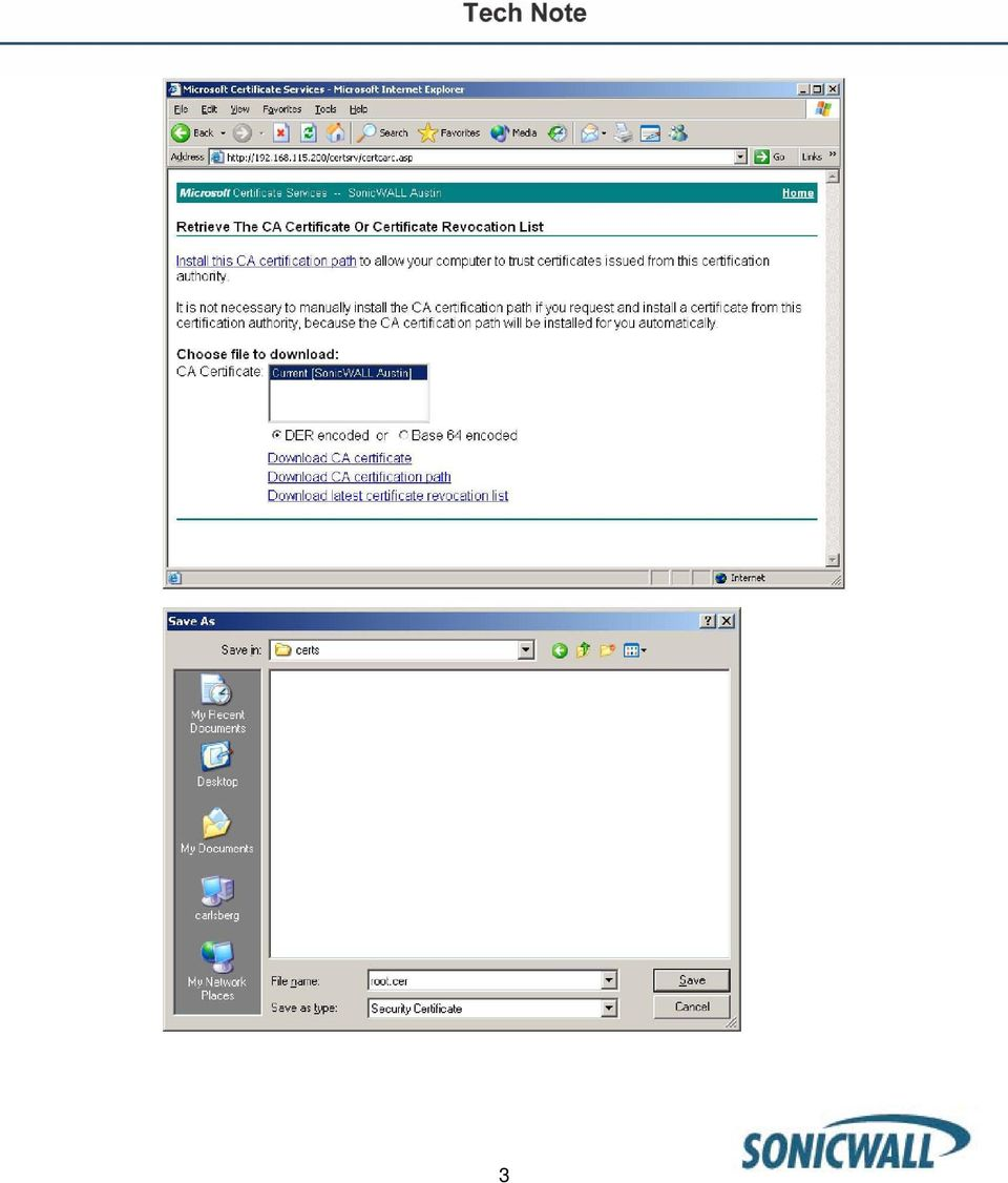 Using Microsoft S Ca Server With Sonicwall Devices Pdf