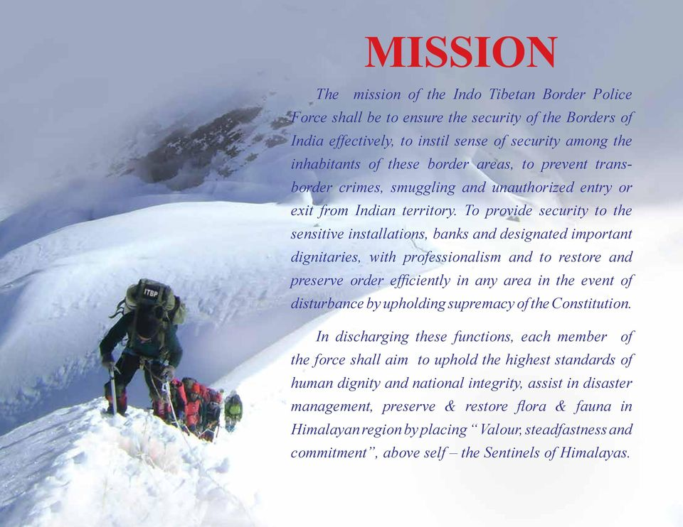 INDO TIBETAN BORDER POLICE FORCE  52 nd Anniversary Special PDF