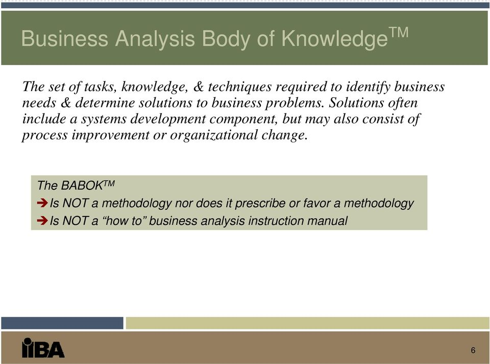 The Certified Business Analysis Professional (CBAP ) - PDF