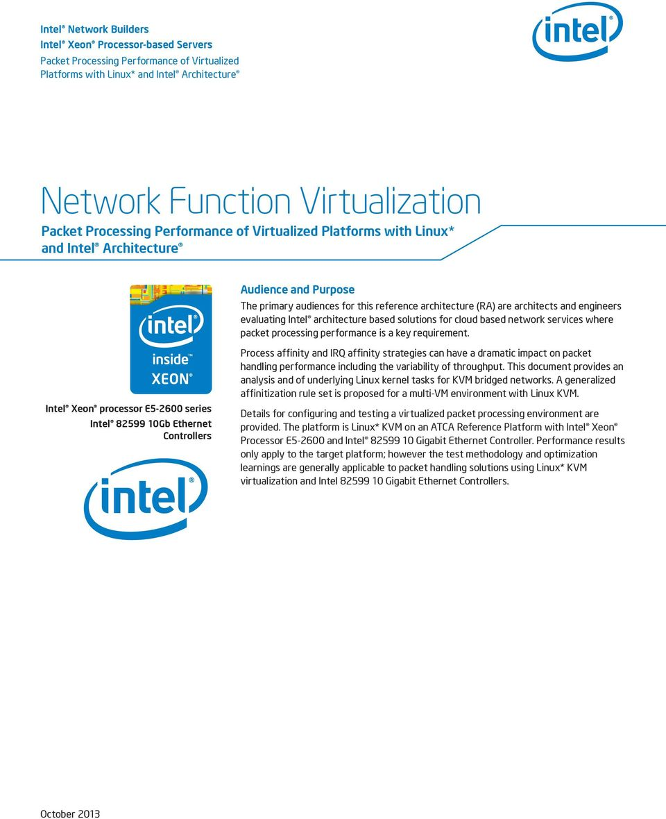 Network Function Virtualization Packet Processing