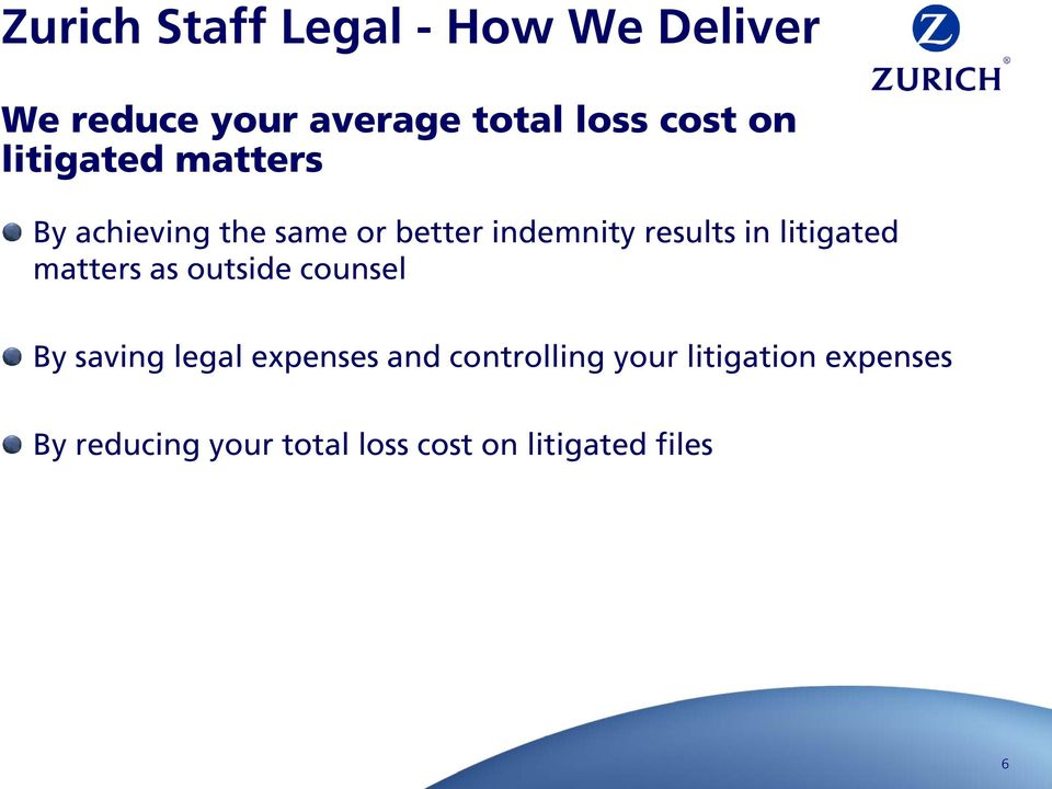 litigated matters as outside counsel By saving legal expenses and