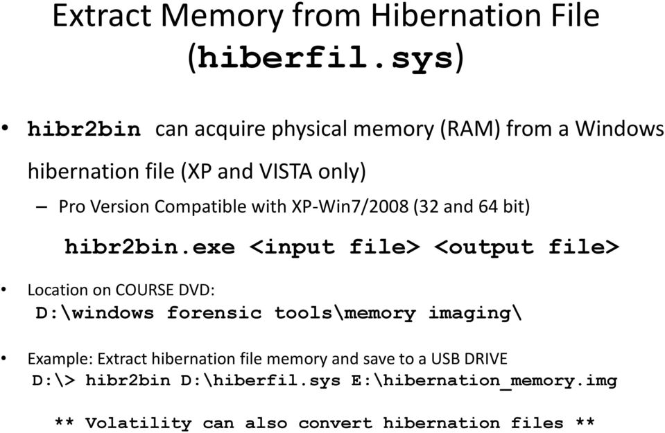 Detecting Malware With Memory Forensics  Hal Pomeranz SANS Institute