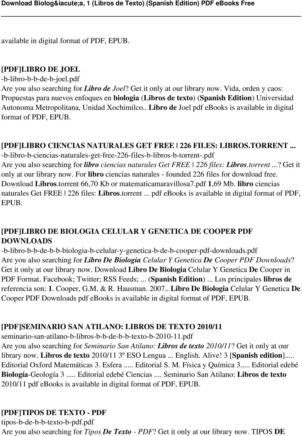 Biologa 1 libros de texto spanish edition pdf pdf libro de joel pdf ebooks is available in digital format of pdf epub fandeluxe Choice Image