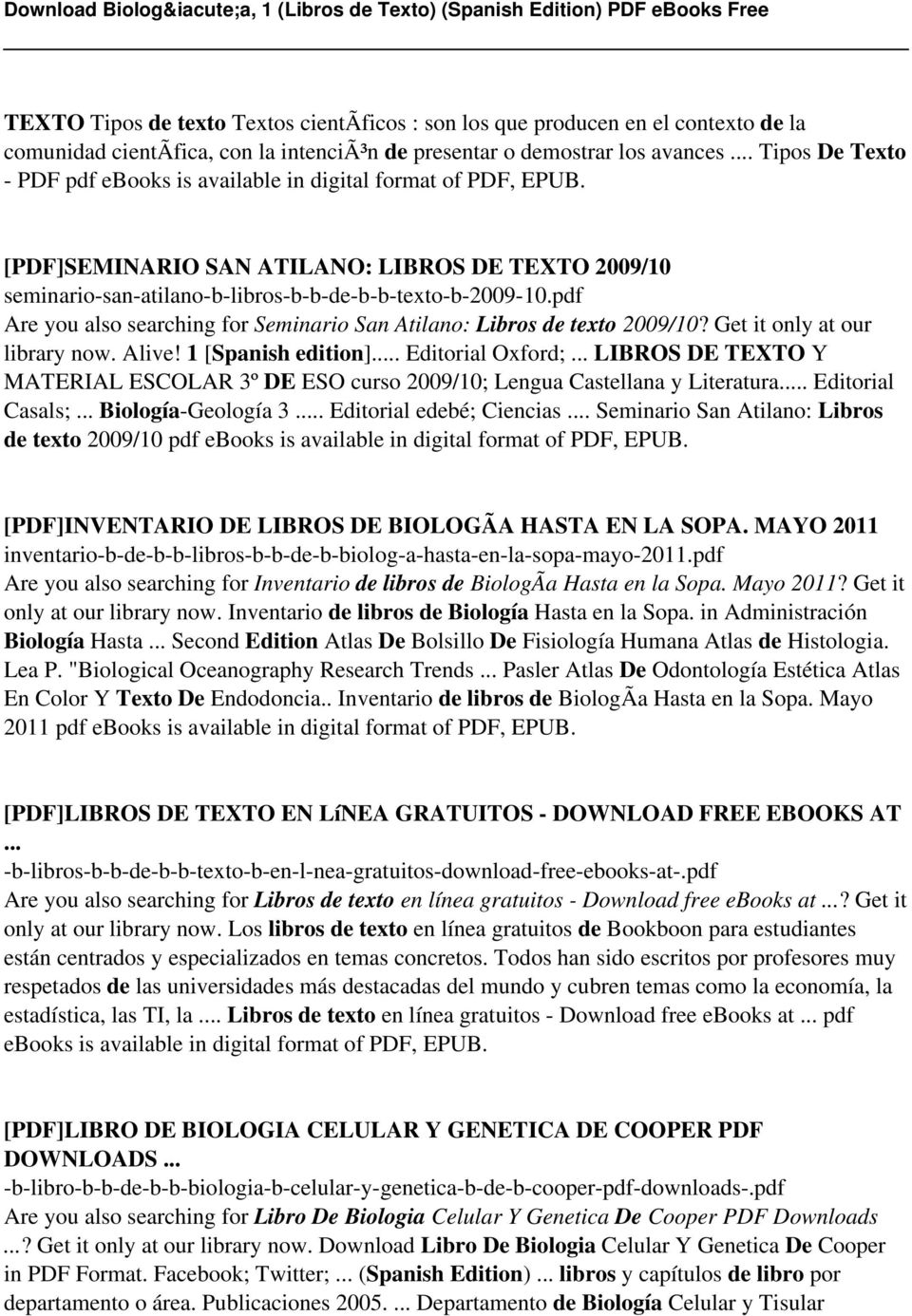 Biologa 1 libros de texto spanish edition pdf pdf pdf are you also searching for seminario san atilano libros de texto 200910 fandeluxe Choice Image