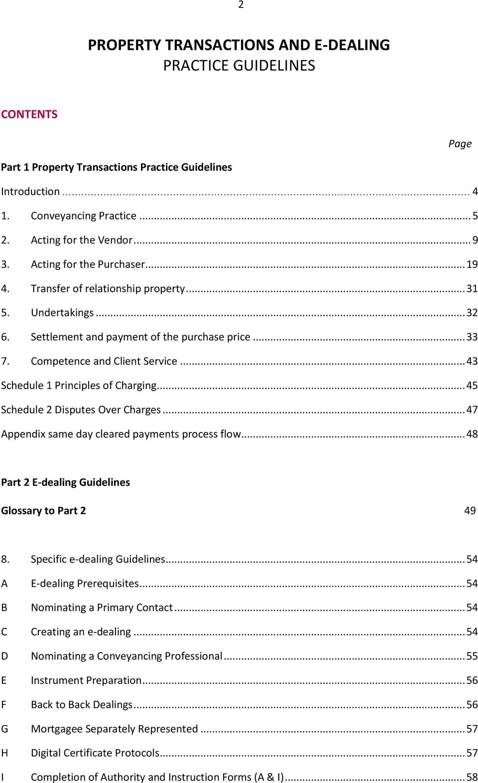 PROPERTY TRANSACTIONS AND E-DEALING PRACTICE GUIDELINES - PDF