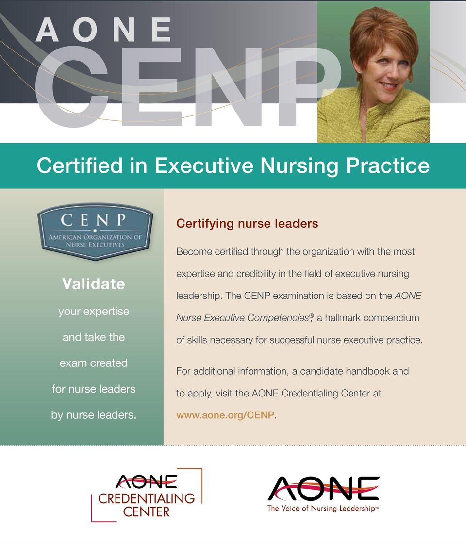 expertise and credibility in the field of executive nursing leadership.