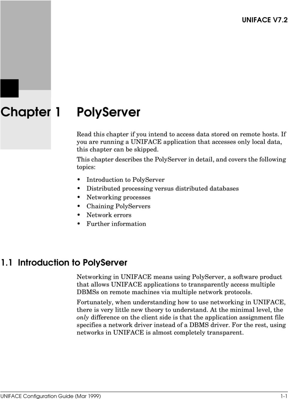 PolyServers Network errors Further information 1.