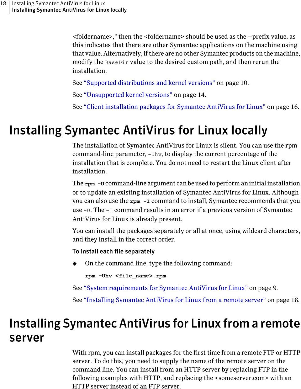 Symantec AntiVirus for Linux Implementation Guide - PDF