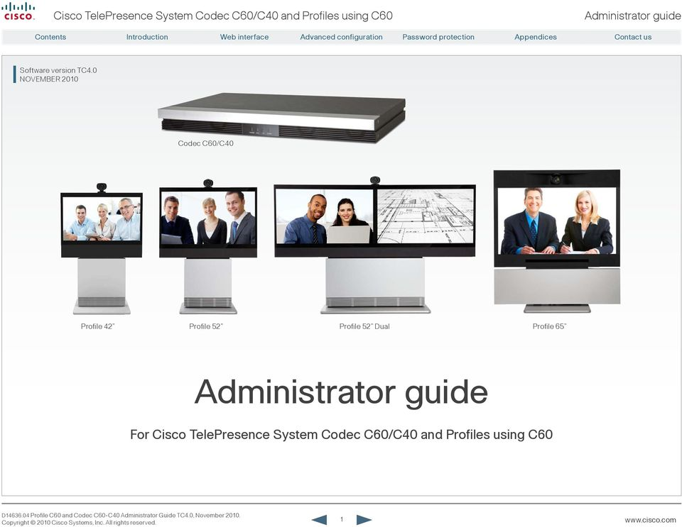 administrator guide for cisco telepresence system codec c60 c40 and rh docplayer net cisco telepresence codec c90 administrator guide Building Guide