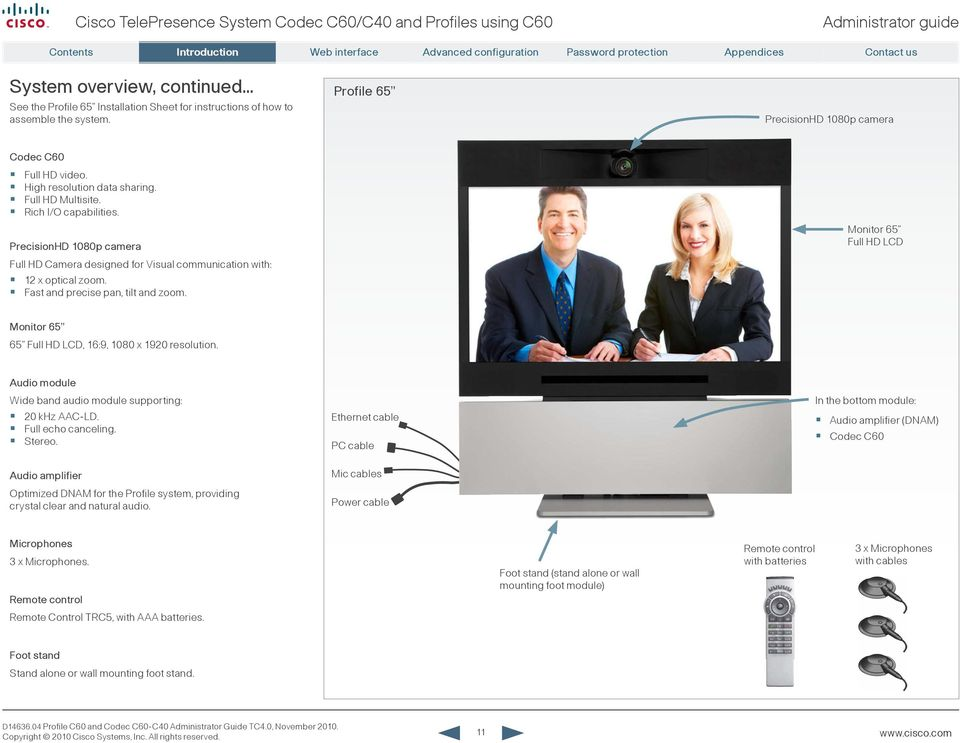 administrator guide for cisco telepresence system codec c60 c40 and rh docplayer net