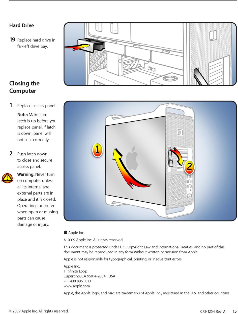 Processor Cage Fans, Front and Rear Replacement Instructions