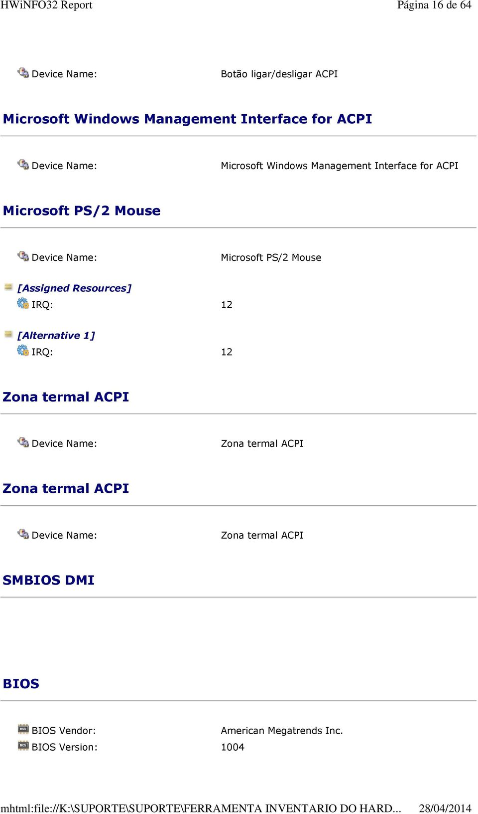 [Assigned Resources] IRQ: 12 [Alternative 1] IRQ: 12 Zona termal ACPI Zona termal ACPI Zona