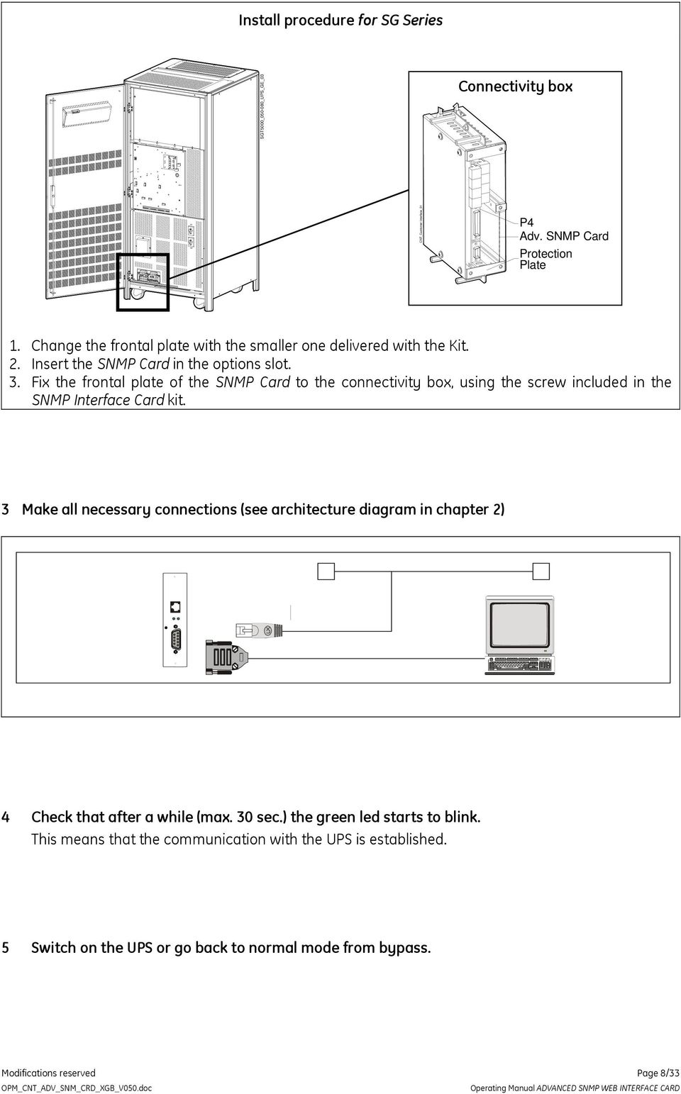 Advanced Snmp Web Interface Card Pdf Wiring Diagram Fix The Frontal Plate Of To Connectivity Box Using Screw
