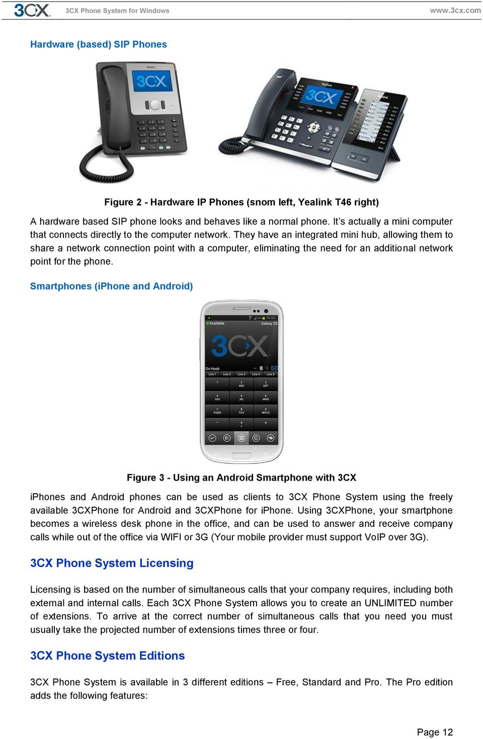 Manual  3CX Phone System for Windows Version 12 - PDF