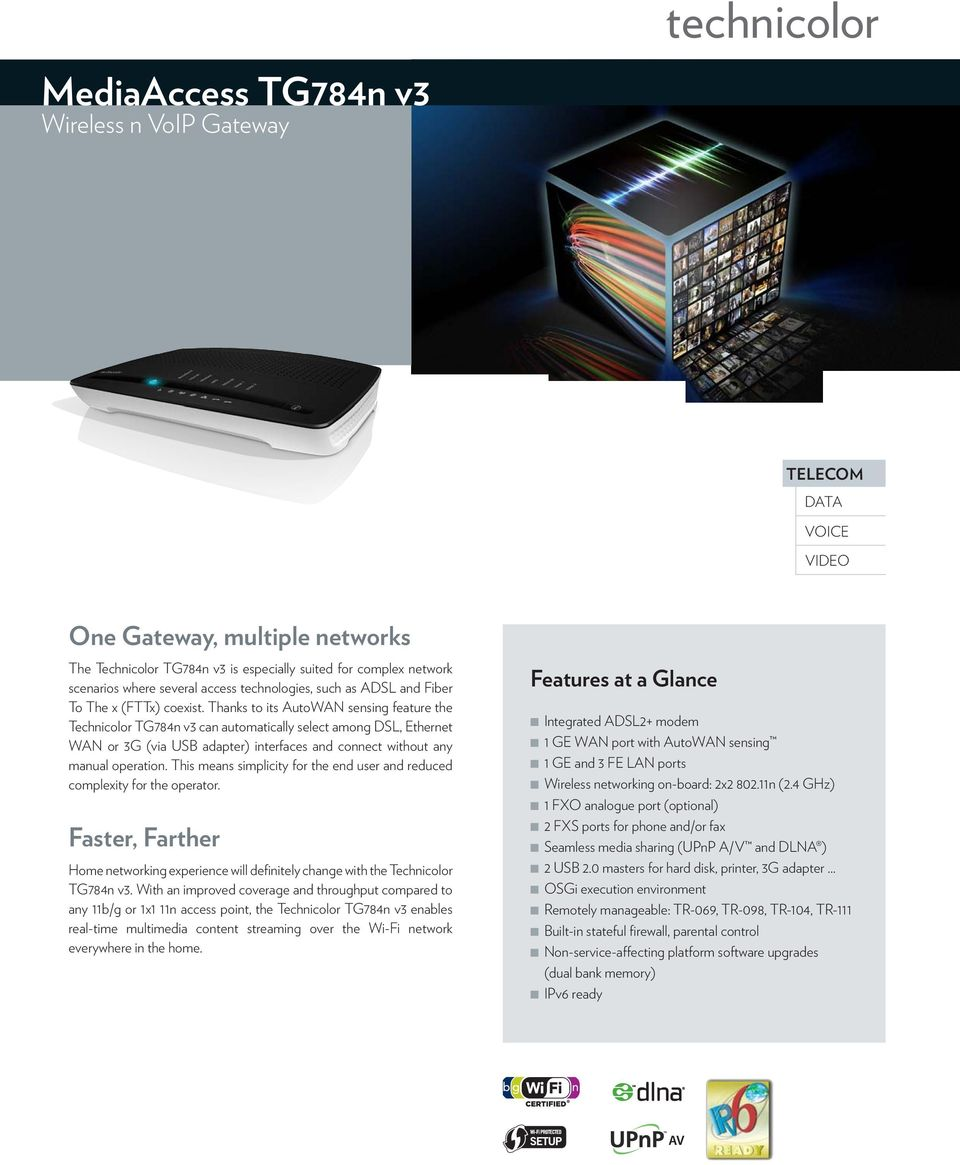 MediaAccess TG784n v3 Wireless n VoIP Gateway - PDF