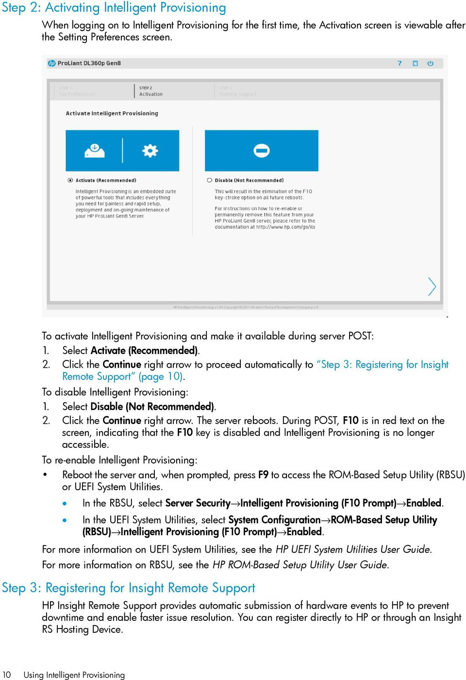 HP Intelligent Provisioning User Guide for HP ProLiant Gen8 Servers