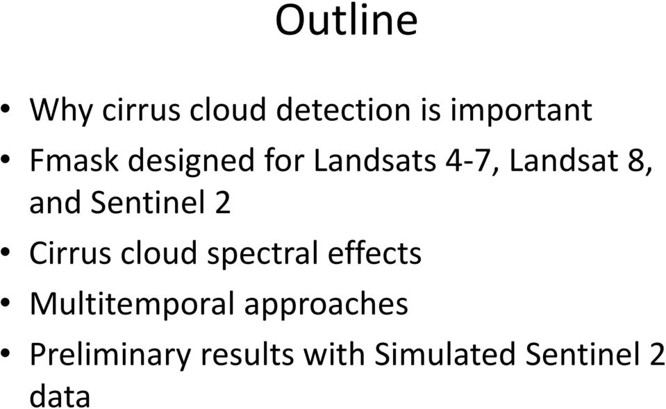 Sentinel 2 Cirrus cloud spectral effects