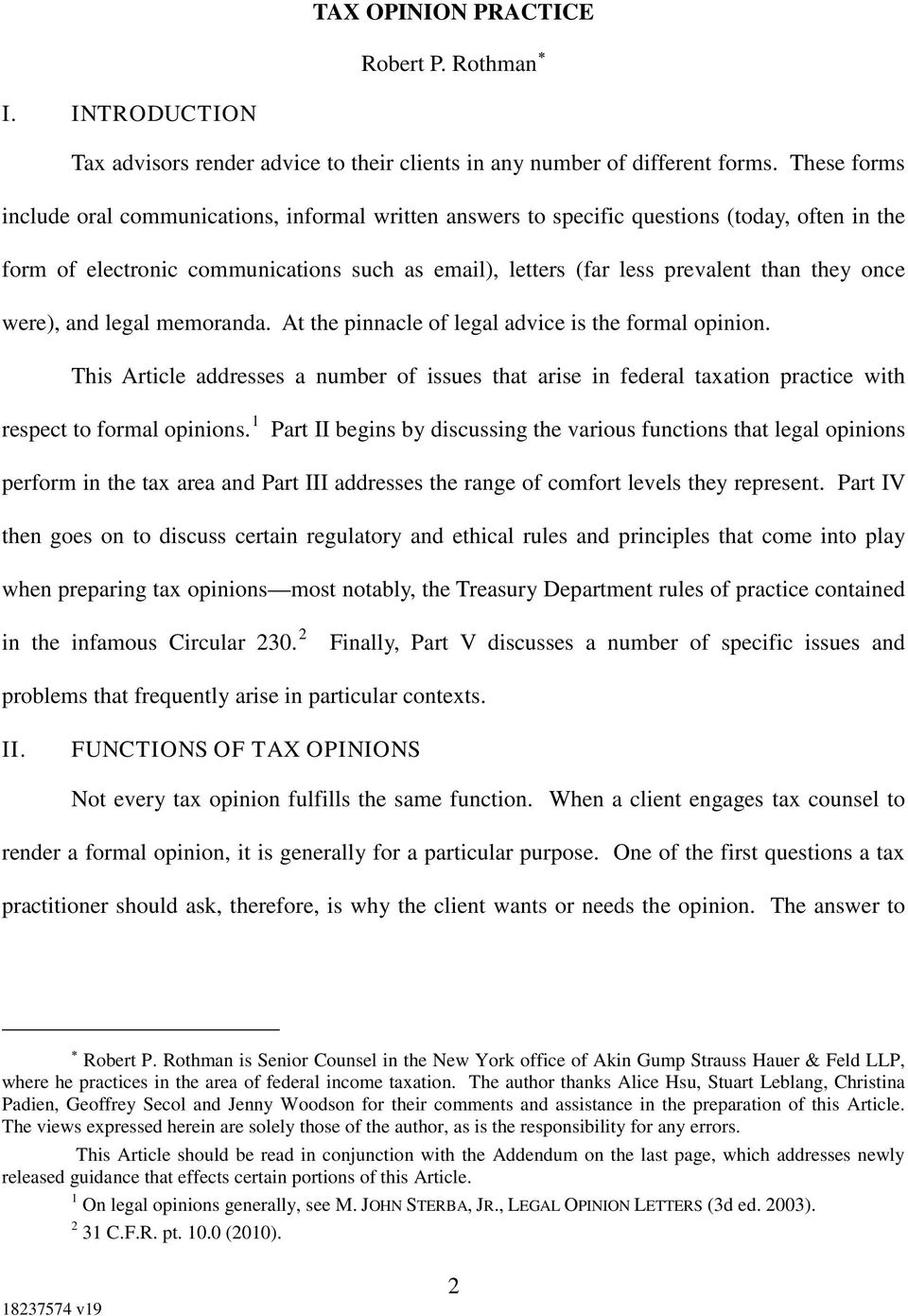 Formal Legal Opinion Letter from docplayer.net