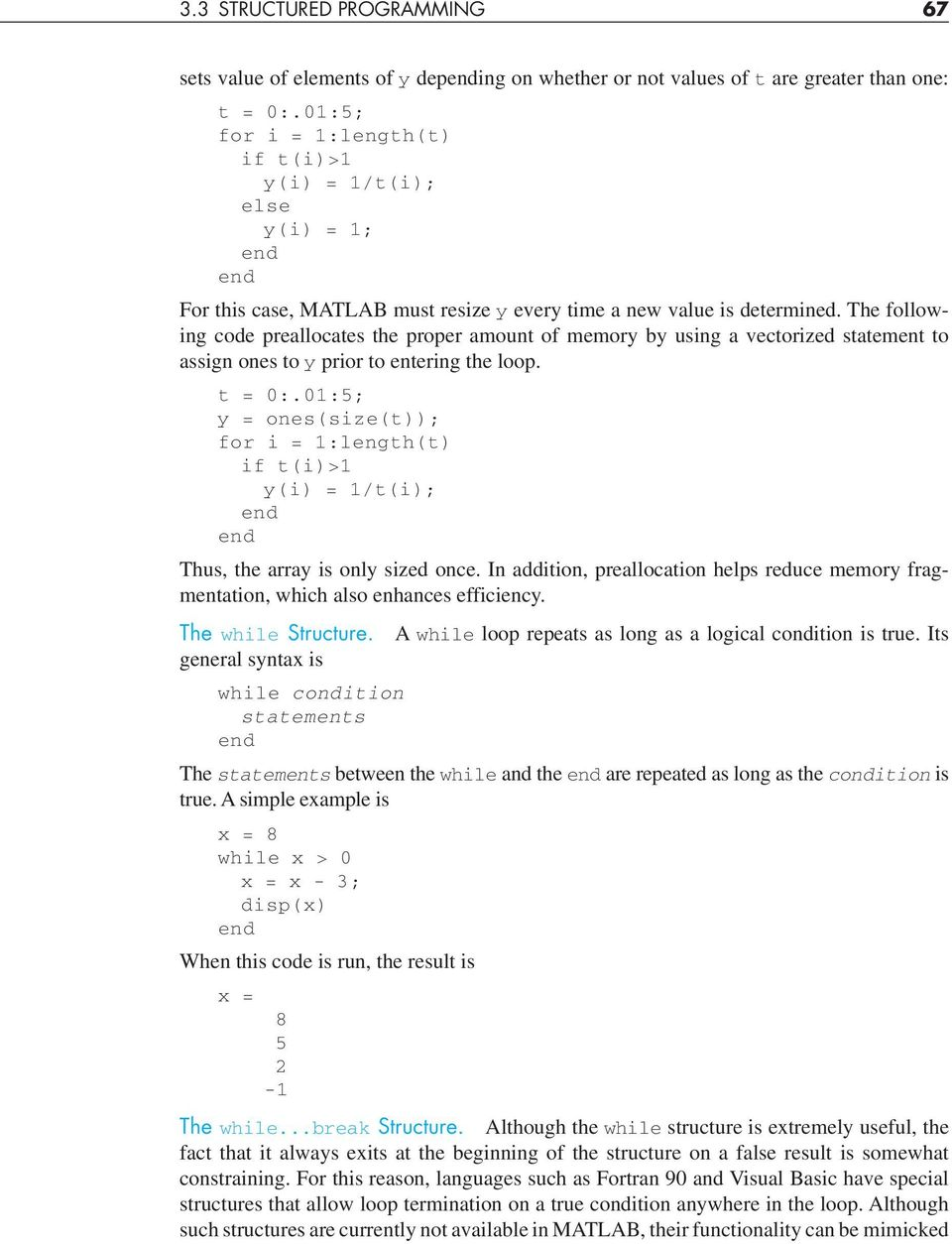 3 Programming with MATLAB - PDF
