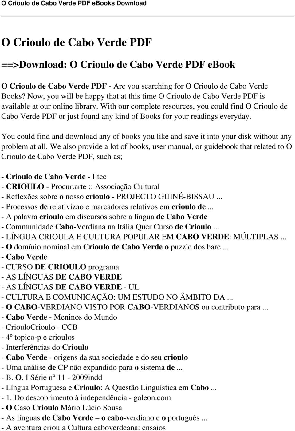 O crioulo de cabo verde pdf pdf with our complete resources you could find o crioulo de cabo verde pdf or just fandeluxe Images