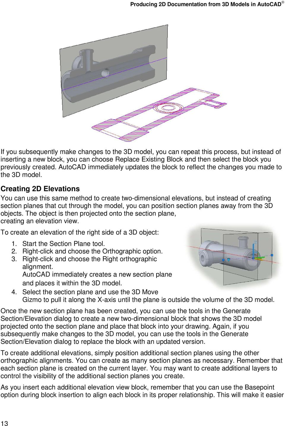 Producing 2D Documentation from 3D Models in AutoCAD - PDF