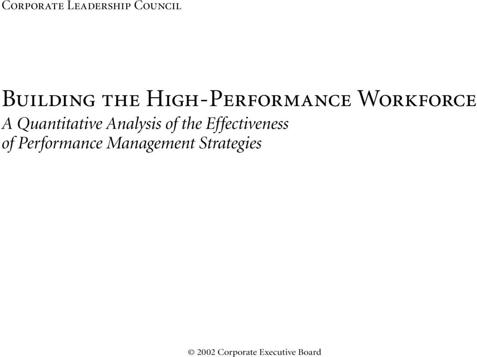 Analysis of the Effectiveness of Performance