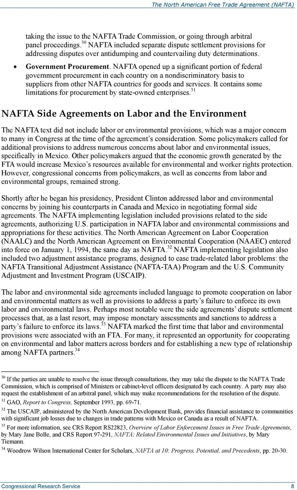 The North American Free Trade Agreement Nafta Pdf