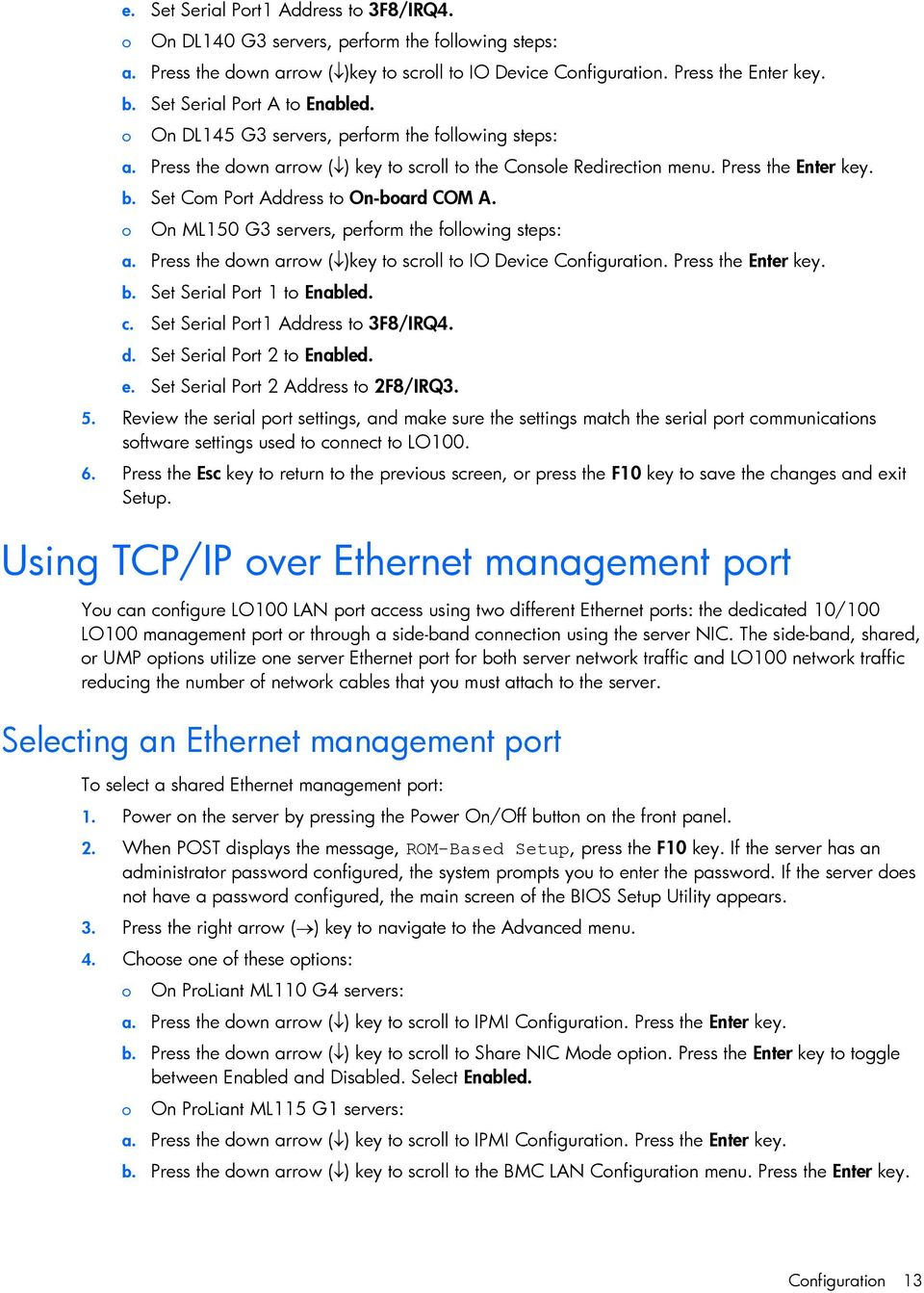 HP ProLiant Lights-Out 100 Remote Management User Guide - PDF