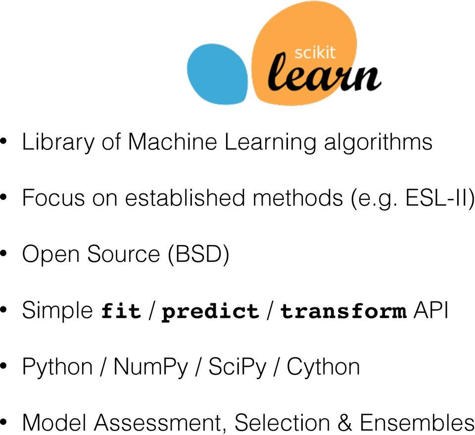 Machine Learning in Python with scikit-learn  O Reilly