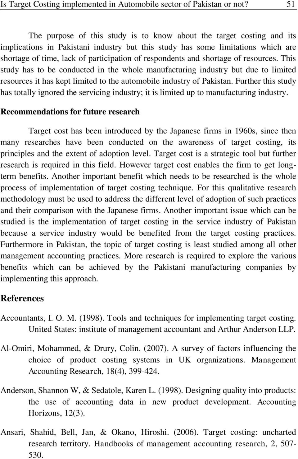 research report on automobile industry in pakistan