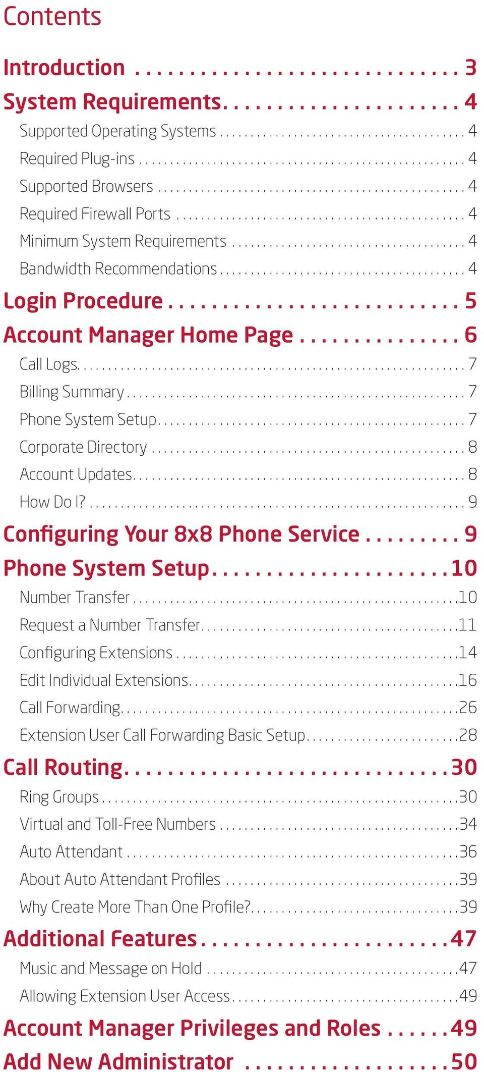 Virtual Office Account Manager Phone System Setup Guide  8x8