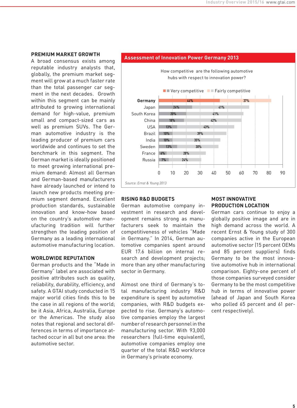 Issue 2015/2016 INDUSTRY OVERVIEW  The Automotive Industry