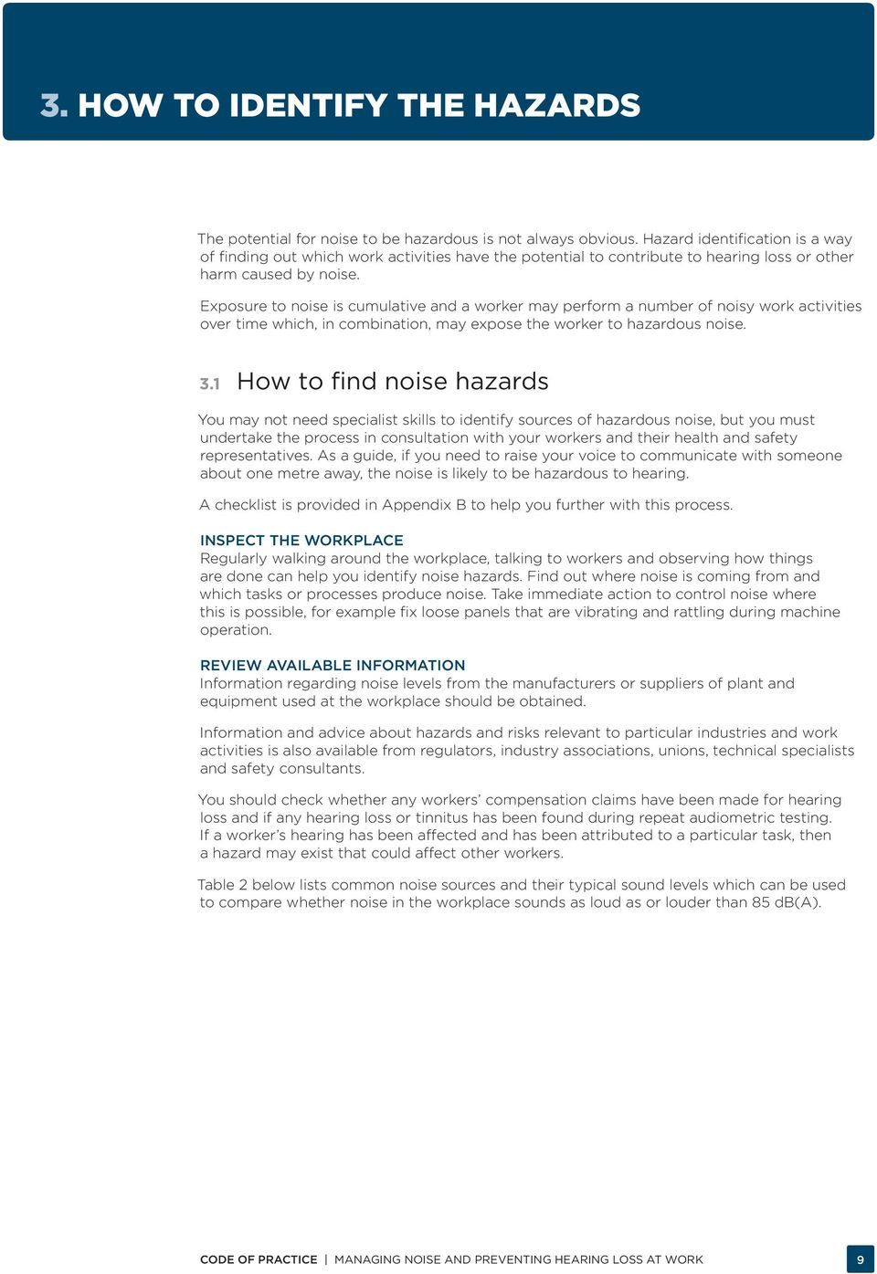 MANAGING NOISE AND PREVENTING HEARING LOSS AT WORK - PDF