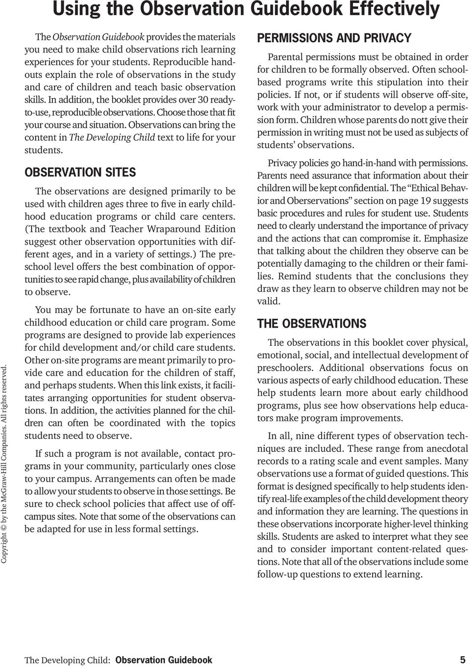 the developing child observation guidebook pdf rh docplayer net