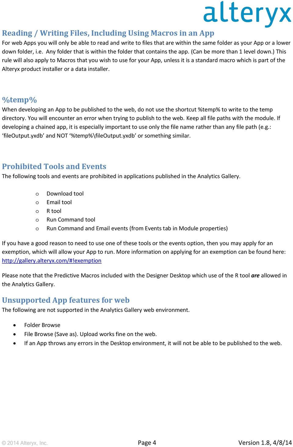 App Building Guidelines - PDF