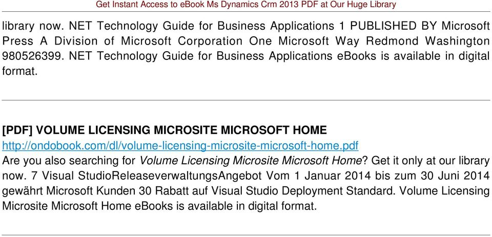 com/dl/volume-licensing-microsite-microsoft-home.pdf Are you also searching for Volume Licensing Microsite Microsoft Home? Get it only at our library now.
