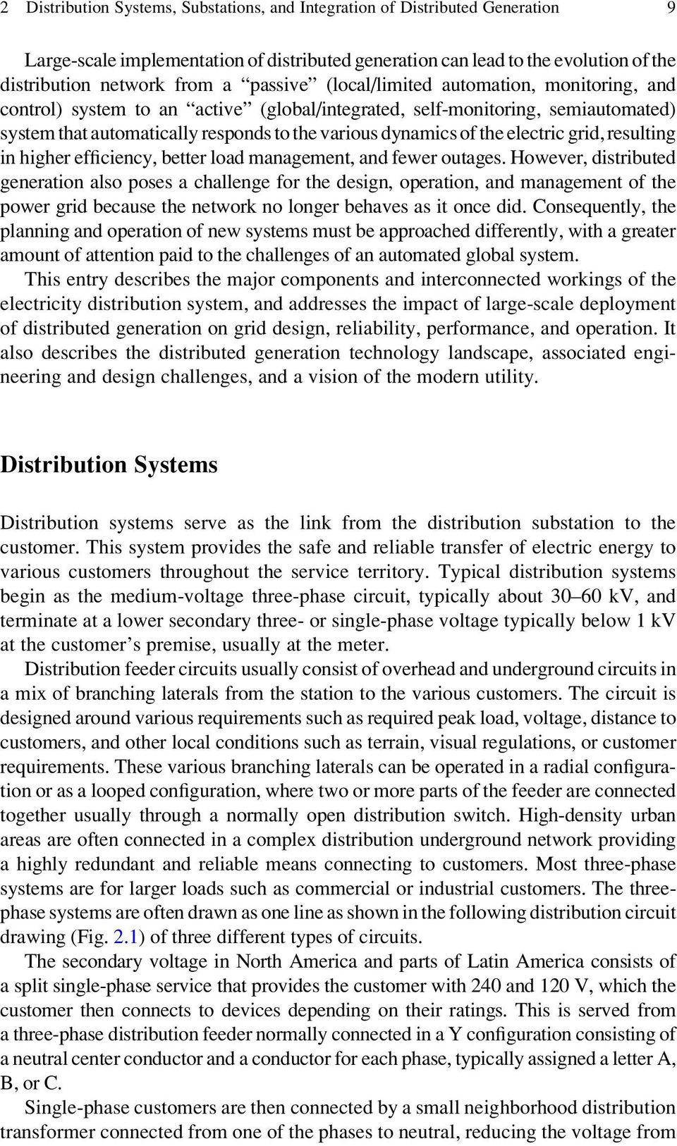 Distribution Substation And Integration Of Distributed Generation Pdf Free Download