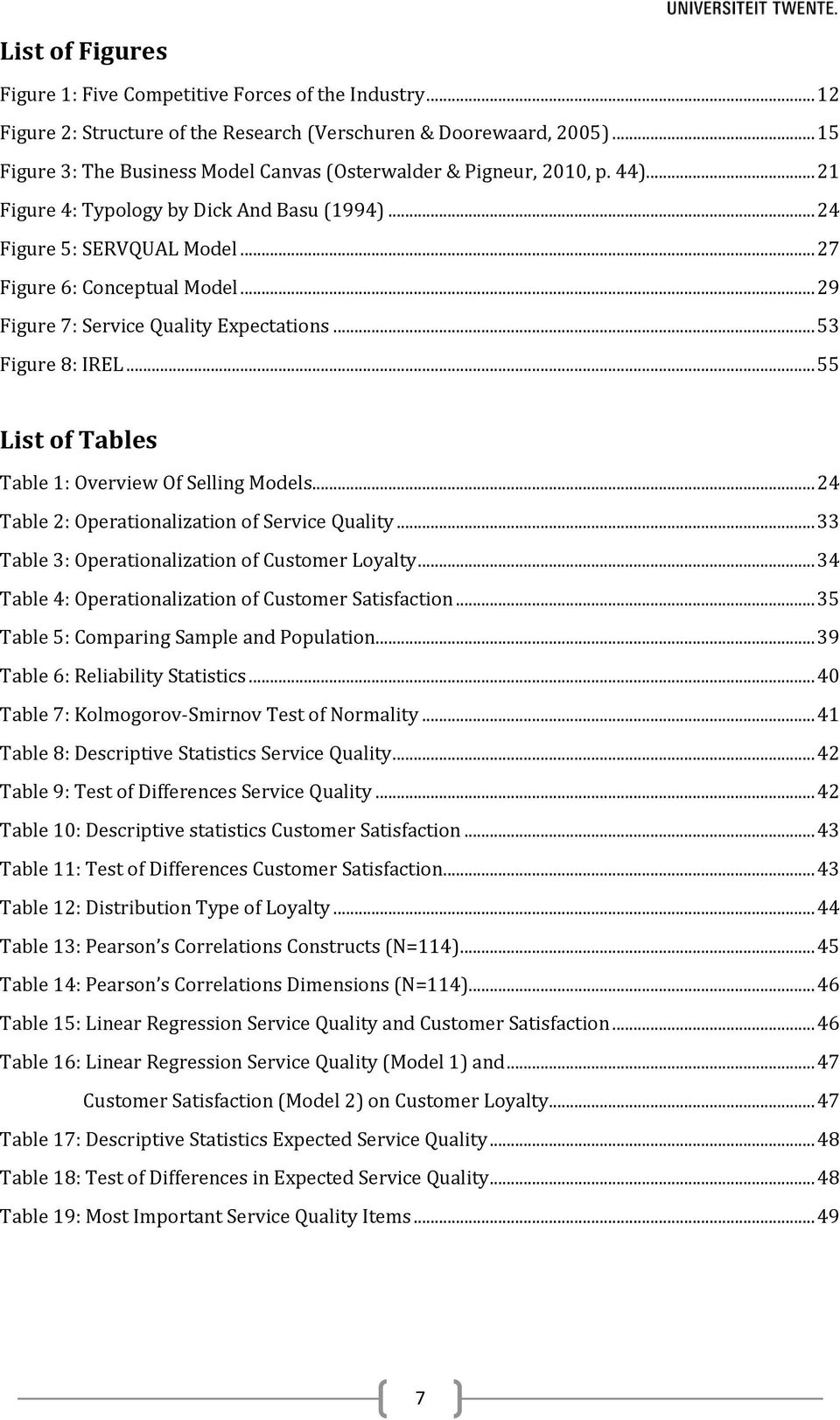.. 29 Figure 7: Service Quality Expectations... 53 Figure 8: IREL... 55 List of Tables Table 1: Overview Of Selling Models... 24 Table 2: Operationalization of Service Quality.
