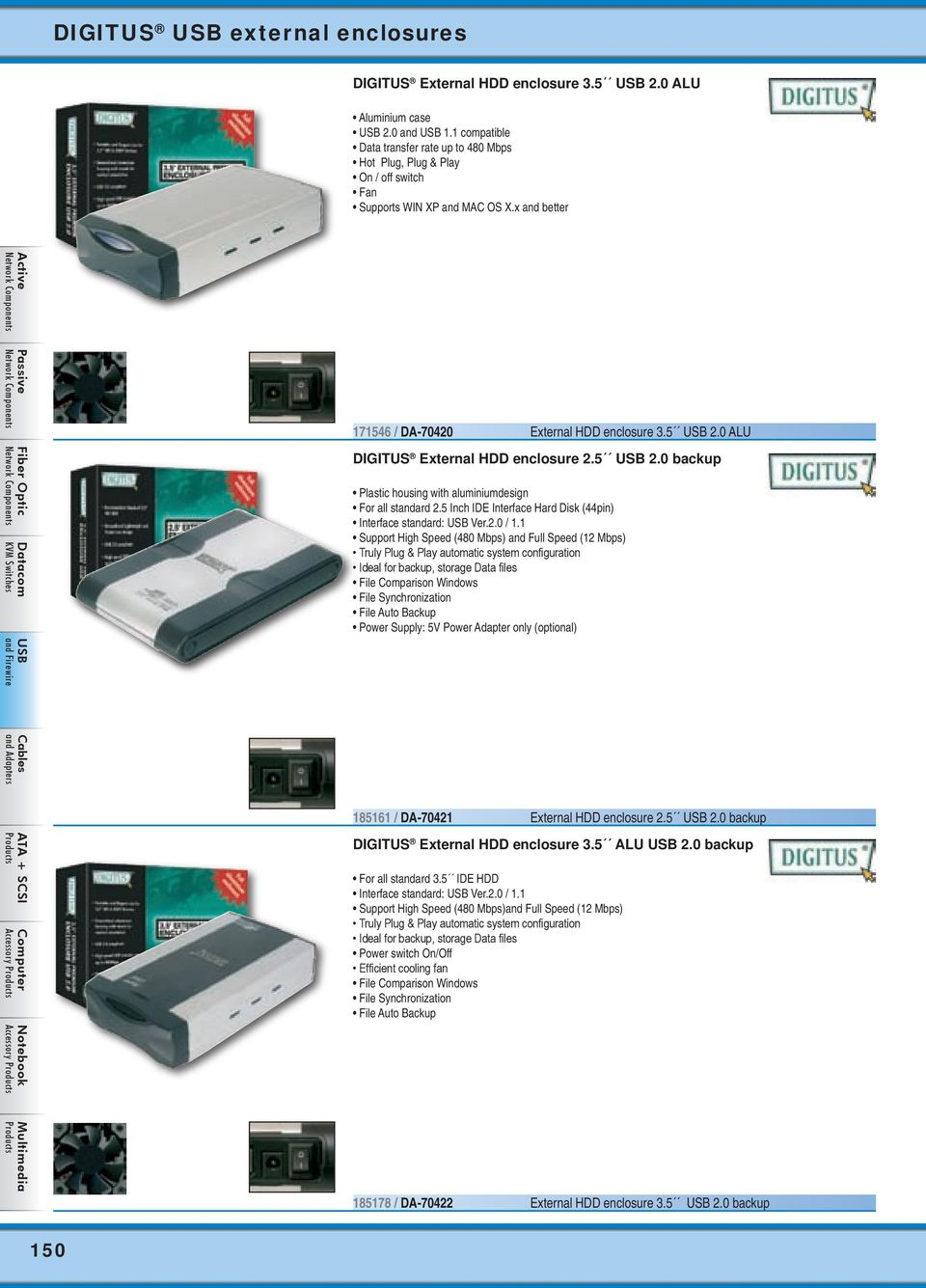Usb And Firewire Digitus Hubs From Page 142 Card Notebook Ide Interface Cdrom To External Drive Circuit Board 3 0 Alu Hdd Enclosure 25 20 Backup Plastic Housing With Aluminiumdesign For All Standard