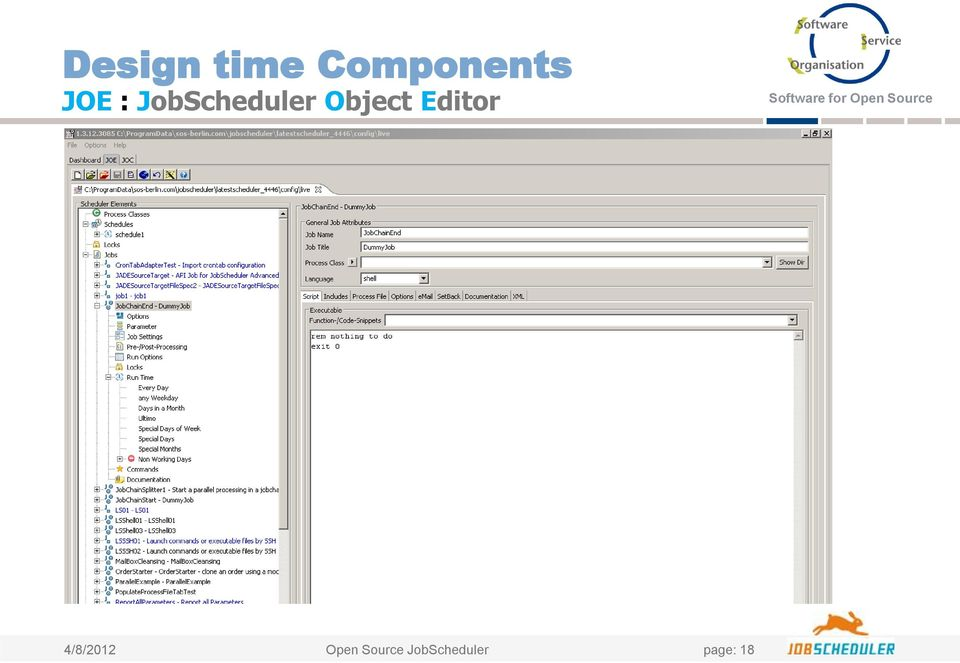 JobScheduler  Architecture and Mode of Operation  Software for Open