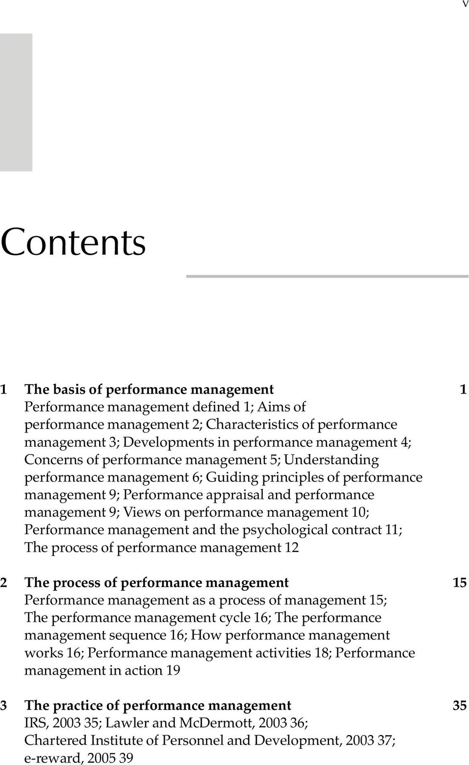 aims of performance management