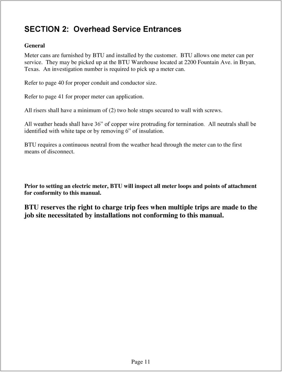 SERVICE ENTRANCE REQUIREMENTS MANUAL - PDF