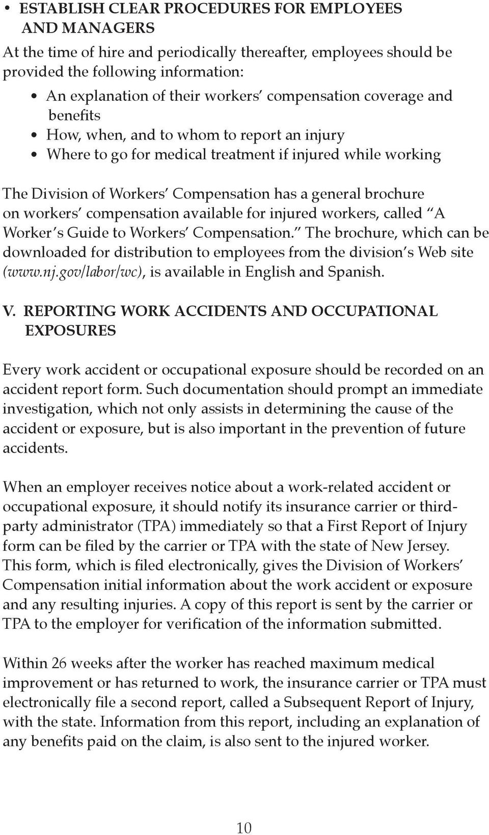workers compensation available for injured workers, called A Worker s Guide to Workers Compensation.