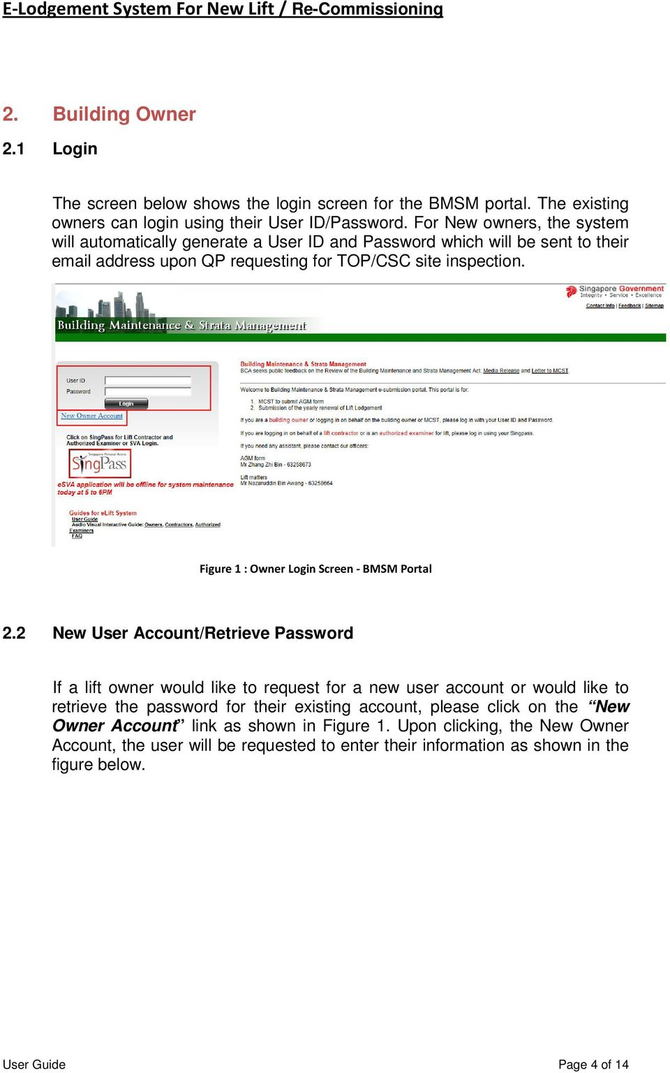 E-Lodgement System User Guide  (For New / Re-commissioning Lift) - PDF