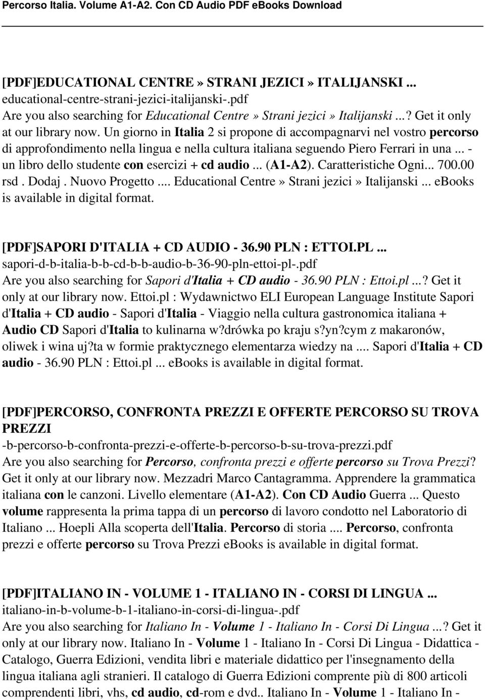 Percorso italia volume a1 a2 con cd audio pdf pdf un libro dello studente con esercizi cd audio fandeluxe