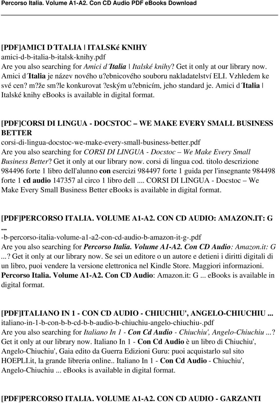 Percorso italia volume a1 a2 con cd audio pdf pdf pdfcorsi di lingua docstoc we make every small business better corsi fandeluxe